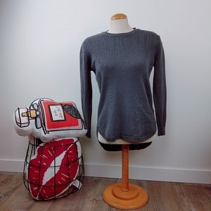 TENTREE | Green/Gray Long Sleeve Sweater Crewneck